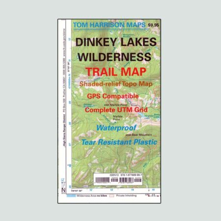Dinkey Lakes Wilderness map
