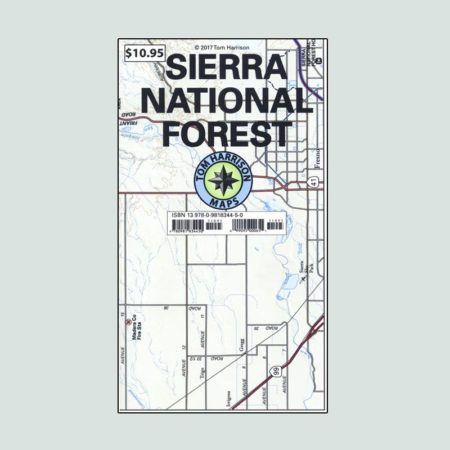 Tom Harrison Map of Sierra National Forest