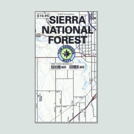 Tom Harrison Map of Sierra National Forest