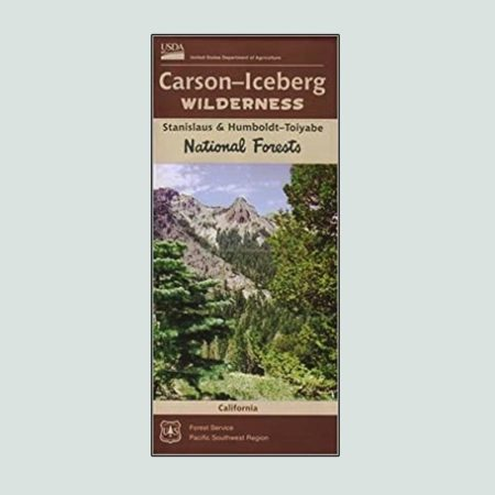 Carson Iceberg Wilderness printed map