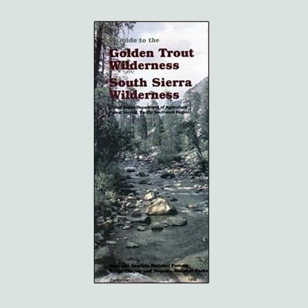 Golden Trout Wilderness printed Map
