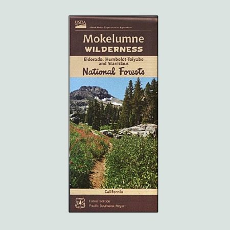 Mokelumne Wilderness printed map