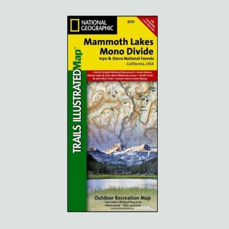 National Geographic map of Mammoth Lakes and Mono Divide
