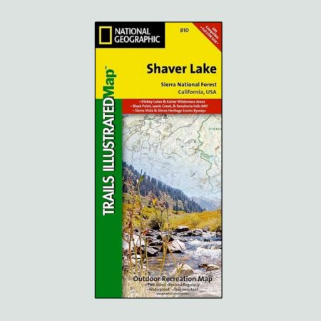 Natinal Geographic map of Shaver Lake, CA