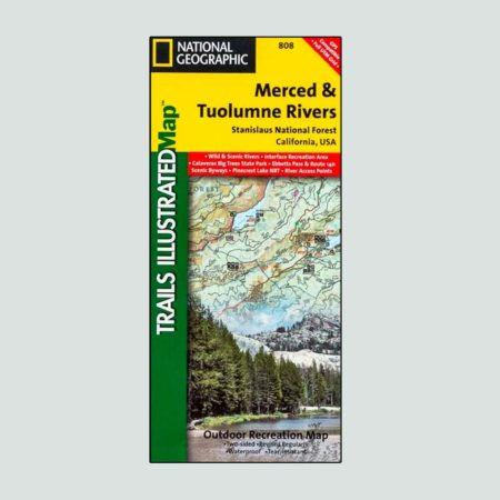 National Geographic map of the Merced and Tuolumne Rivers
